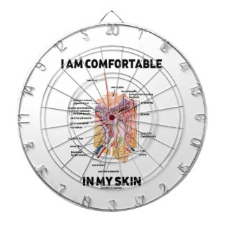 I Am Comfortable In My Skin (Dermal Layers) Dartboard With Darts
