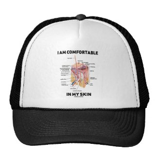 I Am Comfortable In My Skin (Dermal Layers) Mesh Hats