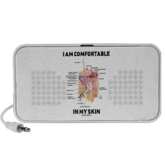 I Am Comfortable In My Skin (Dermal Layers) Mini Speakers