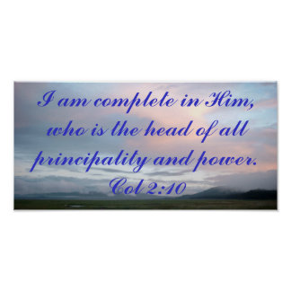 I am complete in Him poster