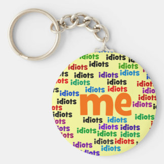 I am Completely Surrounded by a Group of Idiots Basic Round Button Keychain