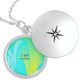 """I AM Confident"" Sterling Silver Round Locket"