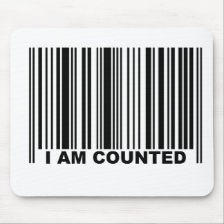 I AM COUNTED MOUSE PAD
