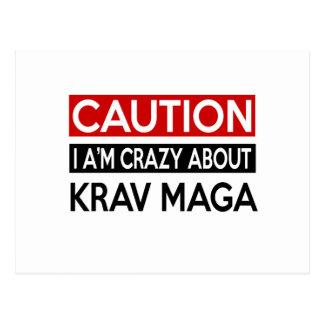 I A'M CRAZY ABOUT KRAV MAGA POSTCARD