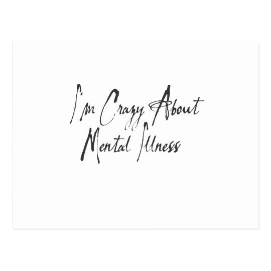 I am crazy about mental health ver#3 postcard