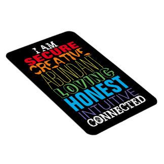 I AM Creative Abundant Intuitive Honest Magnet
