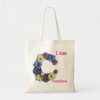 I am Creative flower affirmation Tote Bag