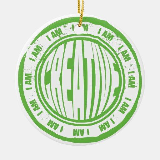 I AM Creative Christmas Ornament