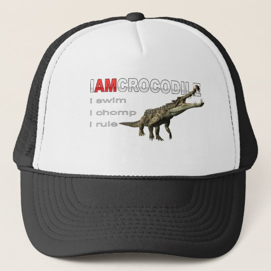 I am crocodile trucker hat