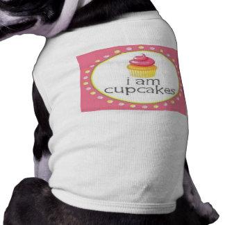i am cupcakes dog t shirt