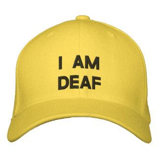 I AM DEAF EMBROIDERED HAT