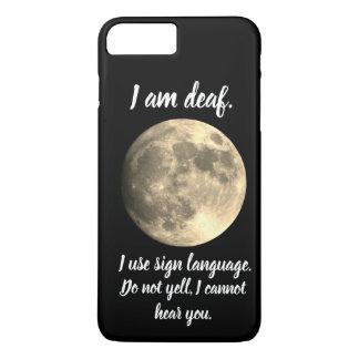 I am Deaf  Full Moon Helpful Communication iPhone 8 Plus/7 Plus Case