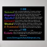 I AM Declaration for America on black poster