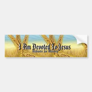 I Am Devoted To Jesus Inspirational Bumper Sticker