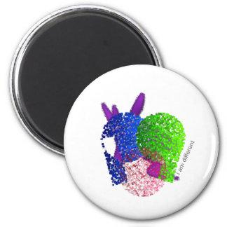 I am different 2 inch round magnet