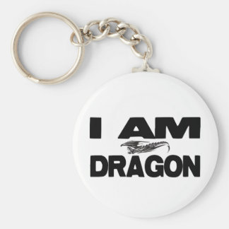 I Am Dragon Basic Round Button Keychain