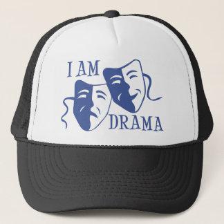 I am drama blue trucker hat