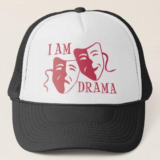 I am drama hot pink gradient trucker hat