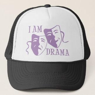 I am drama lavender trucker hat
