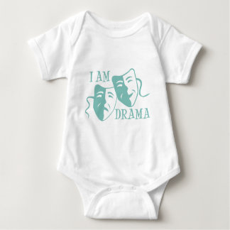 I am drama light blue baby bodysuit