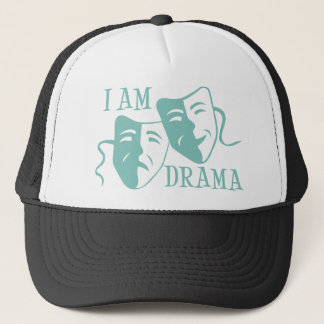 I am drama light blue trucker hat