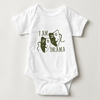 I am drama od green baby bodysuit