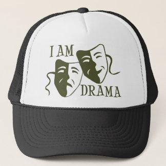 I am drama od green trucker hat