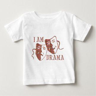 I am drama red plaid baby T-Shirt