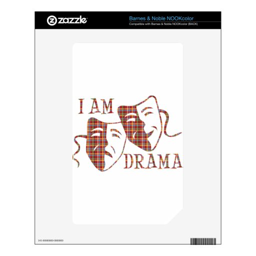 I am drama red plaid decal for the NOOK color