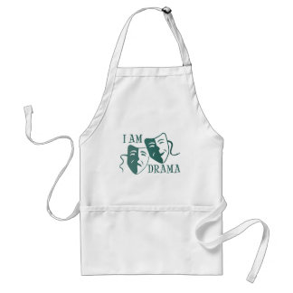 I am drama teal gradient adult apron