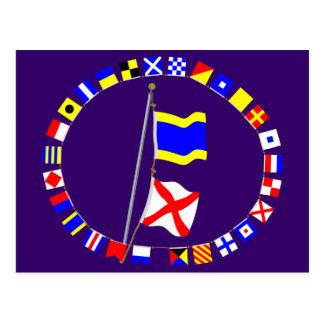 I am drifting Nautical Signal Flag Hoist Postcard
