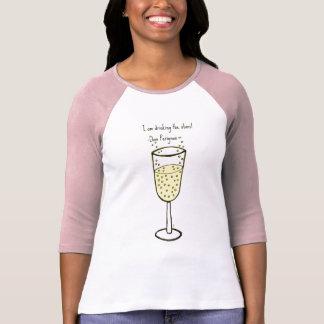 I am drinking the stars...champagne print by jill t shirt