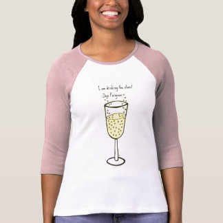 I am drinking the stars...champagne print by jill t-shirt