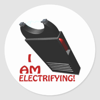 I Am Electrifying Classic Round Sticker