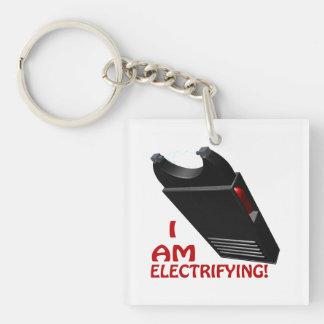 I Am Electrifying Double-Sided Square Acrylic Keychain