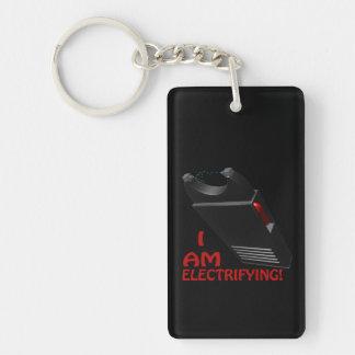I Am Electrifying Double-Sided Rectangular Acrylic Keychain