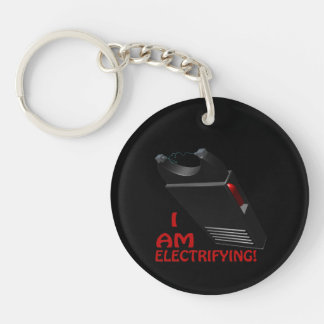 I Am Electrifying Single-Sided Round Acrylic Keychain