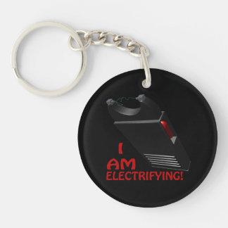 I Am Electrifying Double-Sided Round Acrylic Keychain