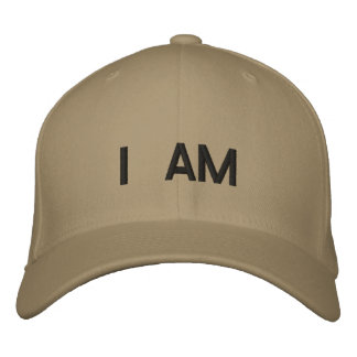 I AM EMBROIDERED BASEBALL CAP
