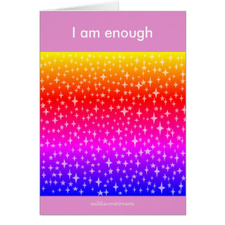 I am enough card