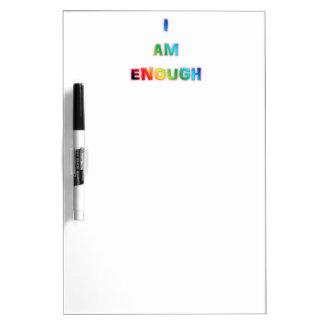 """I Am Enough"" Dry Erase Board w/ Pen"