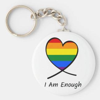 I Am Enough Keychain