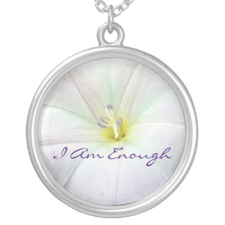 I AM Enough Necklace In White