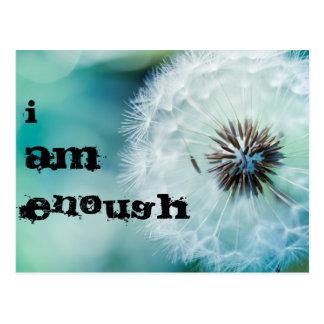 I am enough postcard