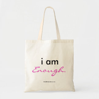 """I Am Enough"" tote bag"