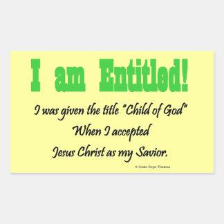I am entitled rectangular stickers
