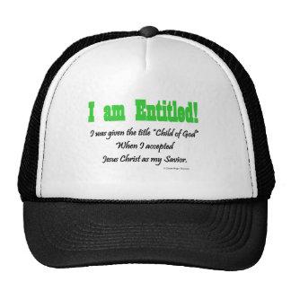 I am entitled trucker hat