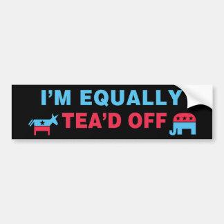 I Am Equally Tea'd Off (v110x) Car Bumper Sticker
