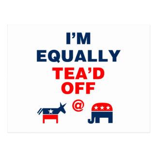 I Am Equally Tea'd Off (v110x) Postcard