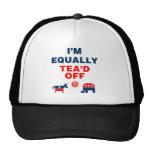 I Am Equally Tea'd Off (v110x) Trucker Hats